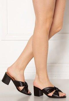Bianco Cate Knot Mule Sandal 100 Black bubbleroom.no
