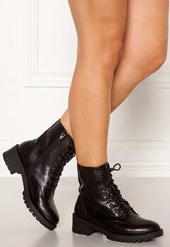 Bianco Claire Laced-Up Boots Black Bubbleroom.no