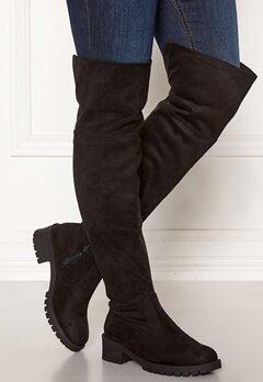 Bianco Claire Overknee Boots 101 Black Bubbleroom.no