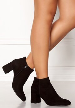 Billi Bi Black Suede Booties Black Bubbleroom.no