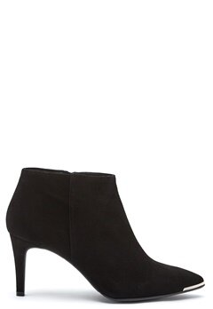 Billi Bi Black Suede High Booties Black Bubbleroom.no