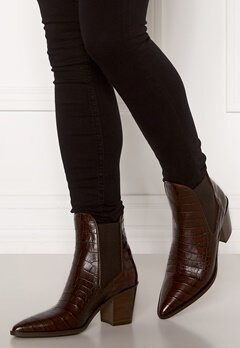 Billi Bi Leather Croco Boots Brown 8505 Luisiana Bubbleroom.no