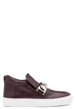 Billi Bi Leather Sneakers Bordeaux Bubbleroom.no