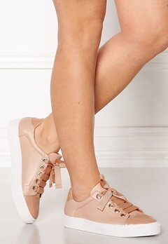 Billi Bi Leather Sneakers Nude Bubbleroom.no