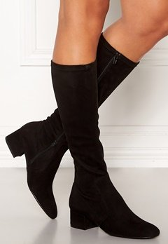 Billi Bi Long Suede Boots Black Bubbleroom.no