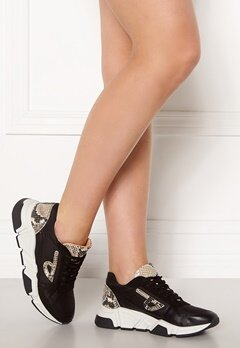 Billi Bi Sneakers Black/Silver Snake Bubbleroom.no