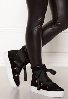 Billi Bi Suede Boots Black/White Bubbleroom.no