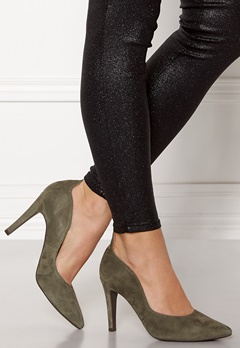 Billi Bi Suede Pumps Khaki Bubbleroom.no