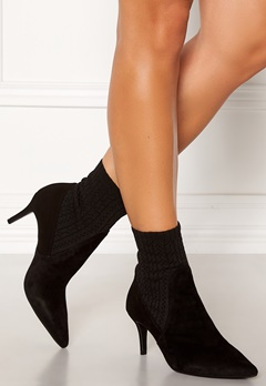 Billi Bi Suede Stretch Boots Black Bubbleroom.no