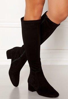 Billi Bi Suede Stretch Long Boots Black Bubbleroom.no