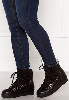 Billi Bi Wedge Boots Black/Gold Bubbleroom.no