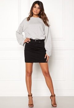 Dr. Denim Bix Denim Skirt Black Bubbleroom.no