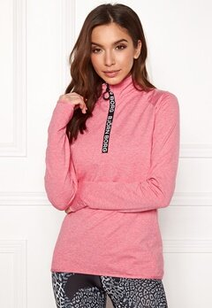 Björn Borg Half Zip Polo Christa Pink Lemonade Melang Bubbleroom.no