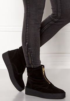 Billi Bi Black Suede/Gold Boots Black Bubbleroom.no