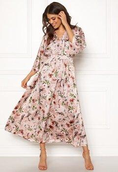 Blue Vanilla Floral Kimono Midi Dress Pink Bubbleroom.no