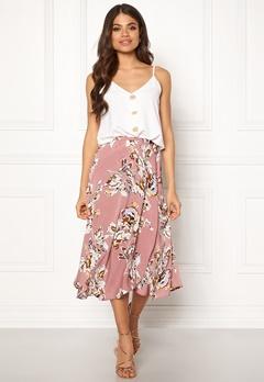 Blue Vanilla Floral Print Wrap Skirt Blush Bubbleroom.no