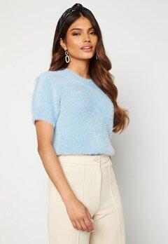 Blue Vanilla Fluffy Knit Top Blue Bubbleroom.no