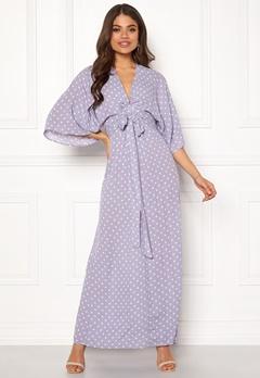Blue Vanilla Kimono Sleeve Maxi Dress Lilac Bubbleroom.no
