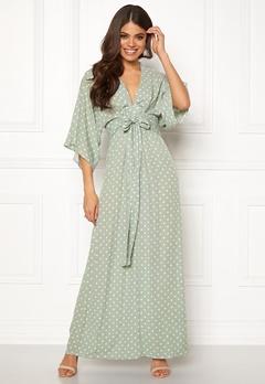 Blue Vanilla Kimono Sleeve Maxi Dress Mint Bubbleroom.no