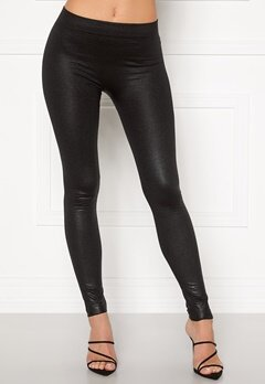 Blue Vanilla Wet Look Leggings Black Bubbleroom.no