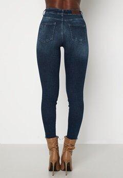 ONLY Blush Life Mid Ank Raw Jeans Dark Blue Denim Bubbleroom.no