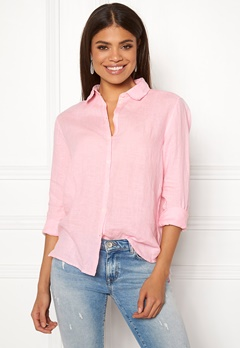 Boomerang Lina Linen Shirt Middway Pink Bubbleroom.no