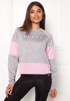 Craft Breakaway Jersey Sweater Grey Melange Bubbleroom.no