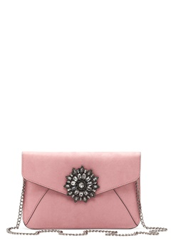 New Look Brooch Envelope Clutch Shell Pink Bubbleroom.no