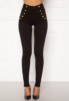 BUBBLEROOM Adina highwaist jeans Black Bubbleroom.no