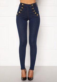 BUBBLEROOM Adina highwaist jeans Midnight blue Bubbleroom.no