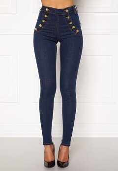 BUBBLEROOM Adina highwaist jeans Midnight blue Bubbleroom.no
