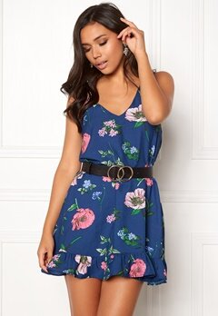 BUBBLEROOM Adriana dress Dark blue / Floral Bubbleroom.no