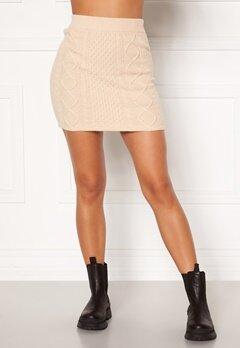 BUBBLEROOM Aisha knitted skirt Cream Bubbleroom.no