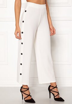 BUBBLEROOM Alexa button trousers White / Black Bubbleroom.no