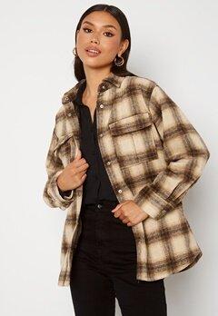 BUBBLEROOM Alice Check Shirt Jacket Beige / Brown / Checked bubbleroom.no