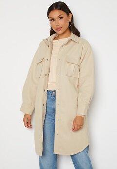 BUBBLEROOM Alice Long Shirt Jacket Beige bubbleroom.no