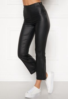 BUBBLEROOM Alicia coated kickflare trousers Black Bubbleroom.no