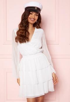 BUBBLEROOM Alina Frill Dress White Bubbleroom.no