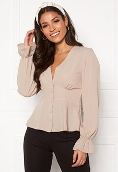 BUBBLEROOM Aliya blouse Light beige Bubbleroom.no