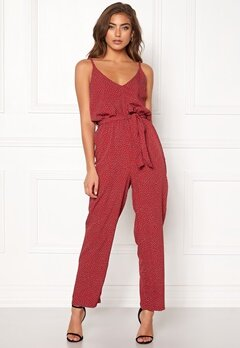 BUBBLEROOM Amal jumpsuit Red / White / Dotted Bubbleroom.no