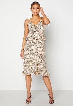 BUBBLEROOM Analisa dress Beige / Black / Dotted Bubbleroom.no