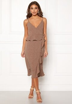 BUBBLEROOM Analisa dress Brown / White / Dotted Bubbleroom.no