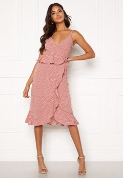 BUBBLEROOM Analisa dress Pink / White / Dotted Bubbleroom.no
