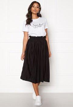 BUBBLEROOM Anna midi pleated skirt Black Bubbleroom.no