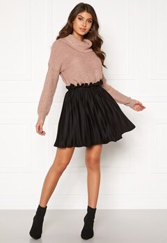 BUBBLEROOM Anna short pleated skirt Black Bubbleroom.no