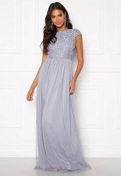 BUBBLEROOM Ariella prom dress Dusty blue Bubbleroom.no