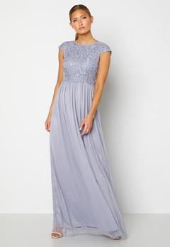 BUBBLEROOM Ariella prom dress Dusty blue bubbleroom.no