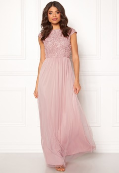 BUBBLEROOM Ariella prom dress Dusty pink Bubbleroom.no