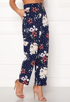 BUBBLEROOM Barbara trousers Blue / Floral / Dotted Bubbleroom.no