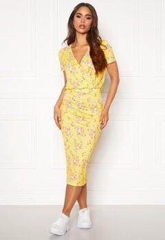 BUBBLEROOM Becky wrap dress Yellow / Floral Bubbleroom.no